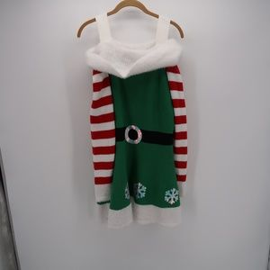 Holiday Time Off The Shoulder Ugly Sweater Dress